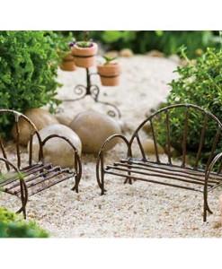 Miniature Vine fairy garden bench