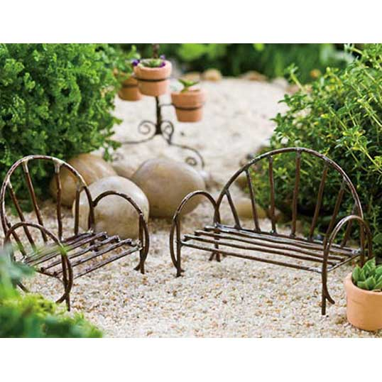 Awe Inspiring Miniature Vine Fairy Garden Bench Ibusinesslaw Wood Chair Design Ideas Ibusinesslaworg