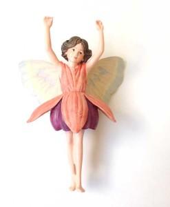 Fuchsia flower figurine