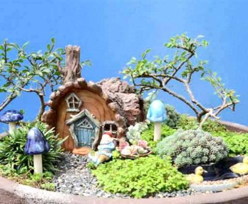 Fairy gnomes and mushrooms