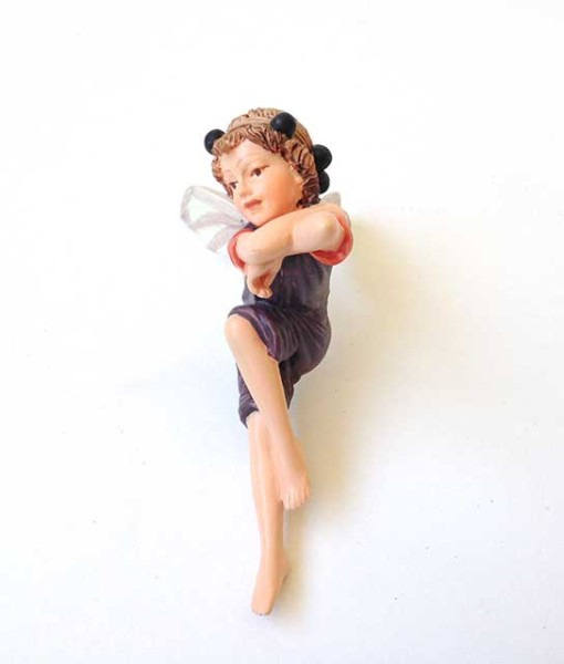 Elderberry flower fairy figurine