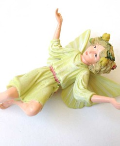 White Bryony flower fairy figurine