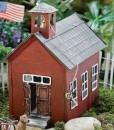 miniature fairy garden red school house