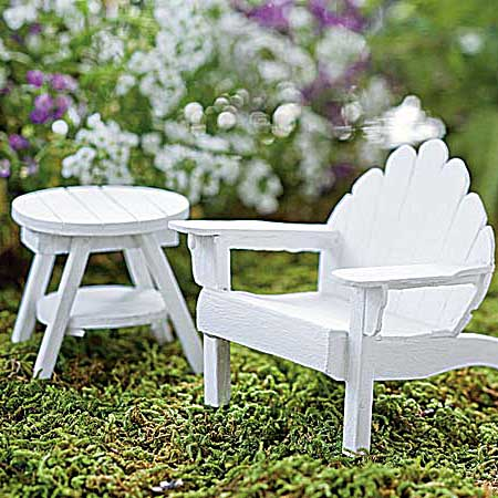Miniature Adirondack chair