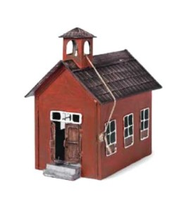 miniature fairy garden red school house