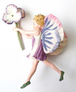Pansy fairy figurine