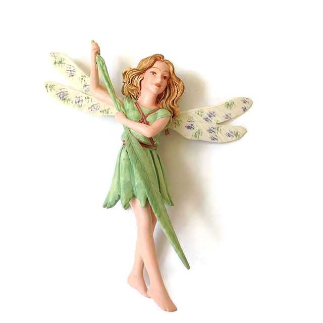 Lavender fairy figurine Fairy Garden Expert