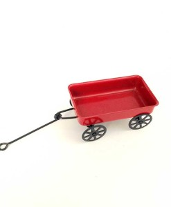 Miniature fairy garden wagon