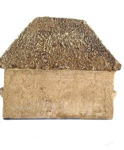 Tiny thatched roof cottage