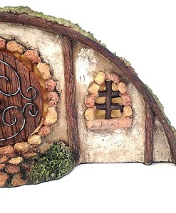 Miniature hillside Hobbit house