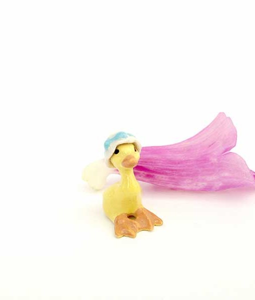 fairy garden miniature duckling