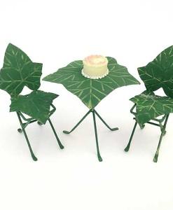Miniature fairy garden ivy bistro set