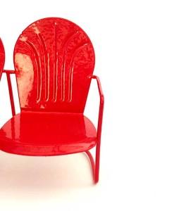 Miniature fairy garden retro chair bench