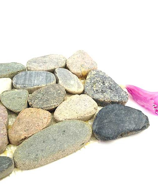 Miniature fairy garden cobblestone patio