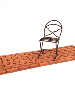 Miniature fairy garden brick pathway
