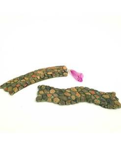 miniature fairy garden cobbled stone path