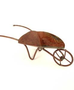 Rustic fairy garden wheelbarrow