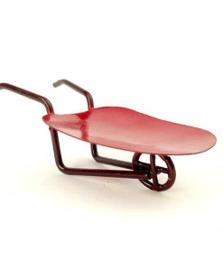 Miniature fairy garden wheelbarrow