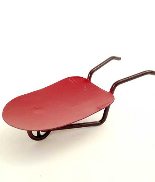 Miniature fairy garden wheelbarrow