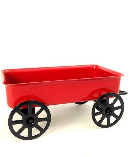 Miniature fairy garden wagon