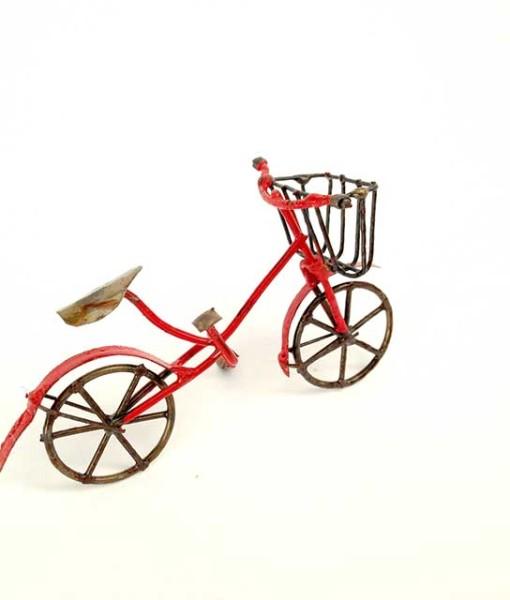 Miniature fairy garden bicycle