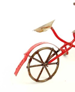 Miniature fairy garden bicycle