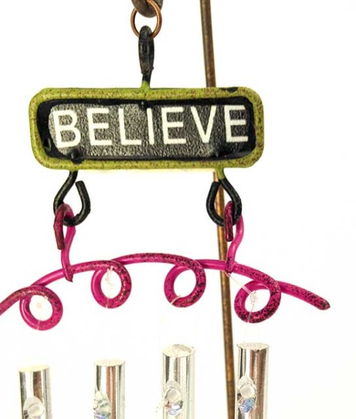 Believe sign wind chime