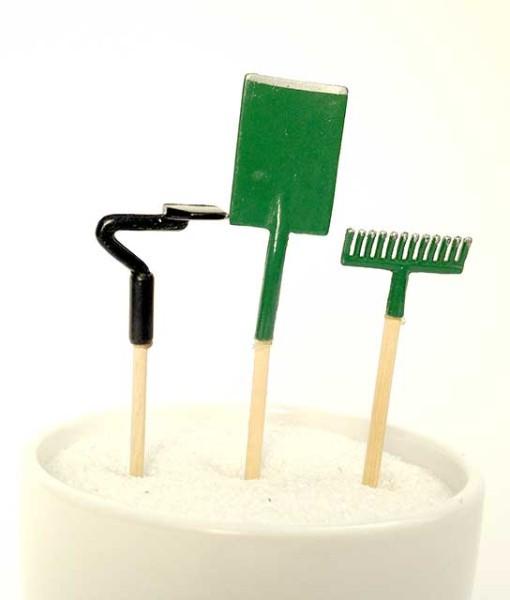 Miniature fairy garden tools