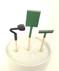 Miniature fairy garden tools