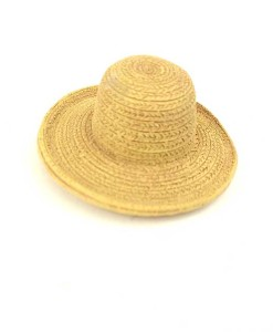 miniature fairy garden straw hat