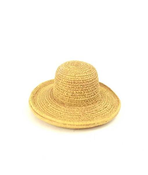 miniature fairy garden straw hat