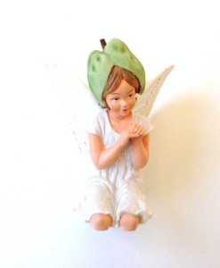 White Bindweed fairy figurine