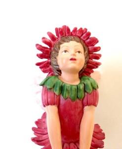 Double Daisy fairy figurine