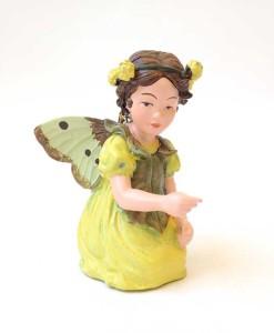 Black Medic fairy figurine