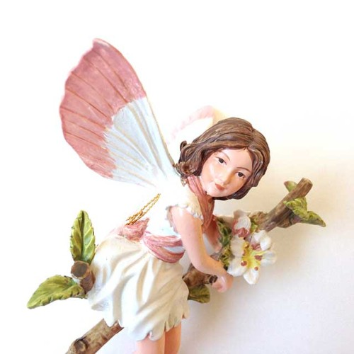 White fairy blossom fairy figurine