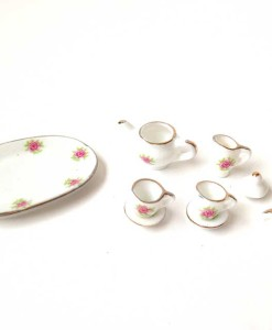 Miniature fairy garden tea set