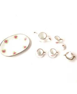 Miniature fairy garden tea set