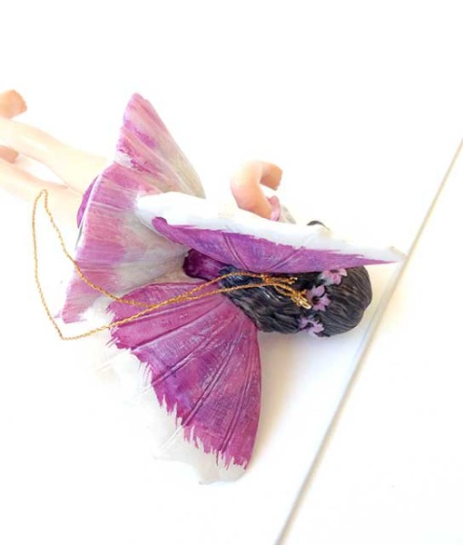 Heliotrope fairy figurine