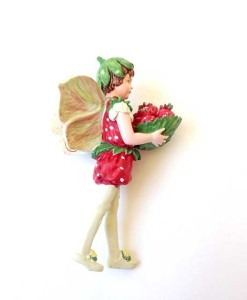 Strawberry fairy figurine