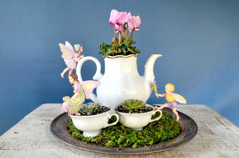 teacup to create a miniature fairy