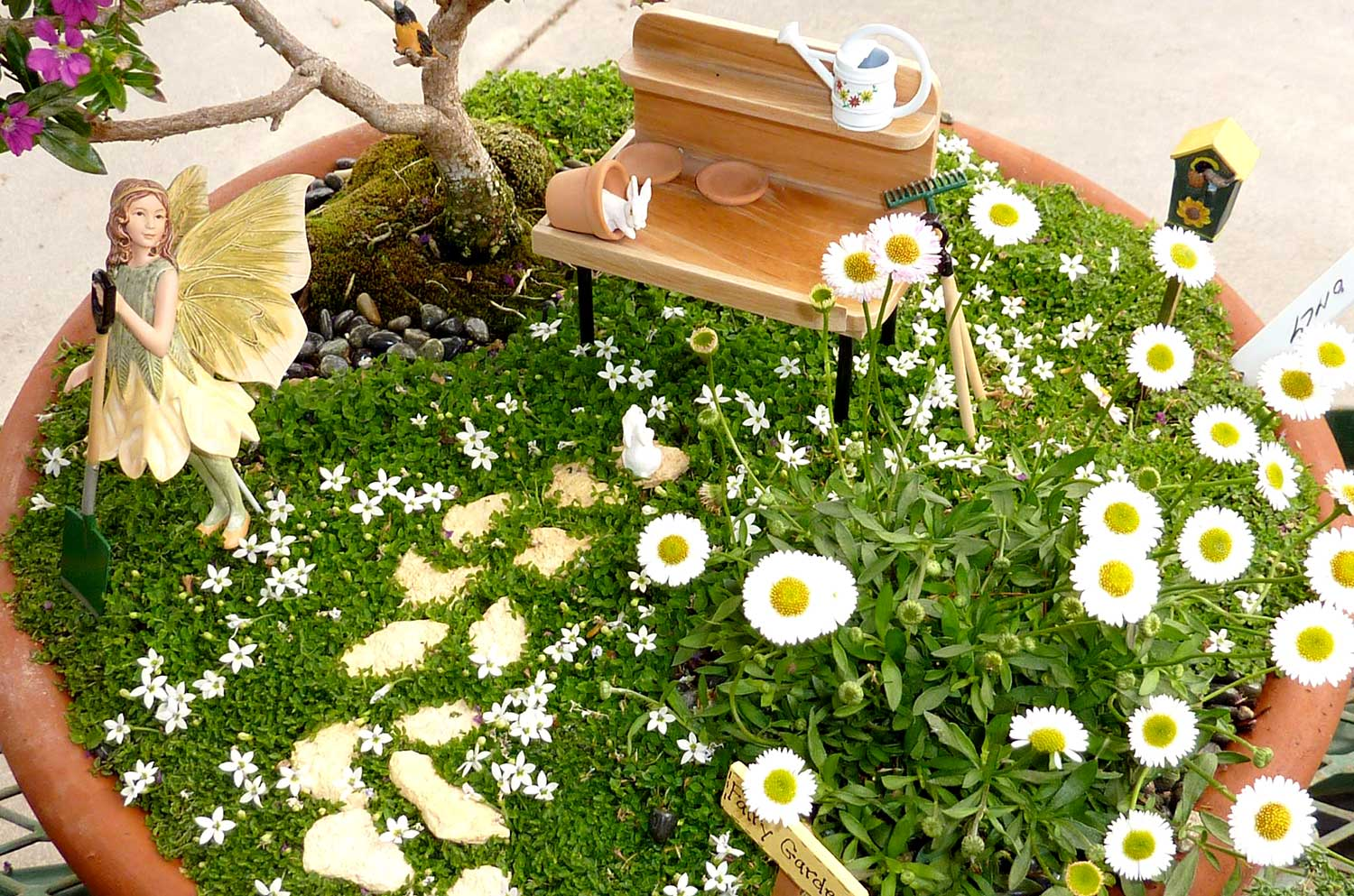 Fairy Gardens Ideas fairy garden from broken clay pot Fairy Garden Fairygardenplants