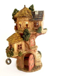 fairy garden treehouse