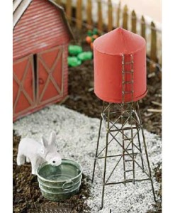 miniature fairy garden water tower