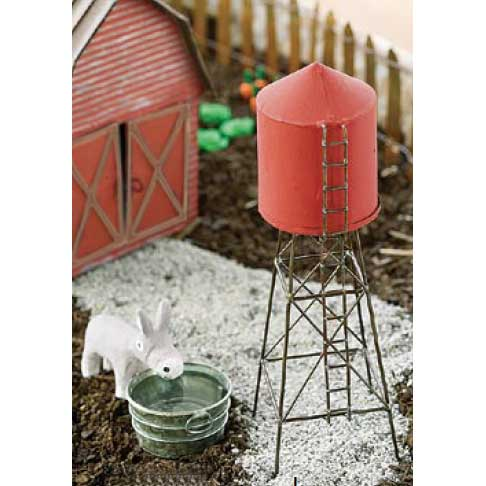 miniature fairy garden water tower