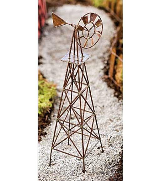 miniature fairy garden windmill