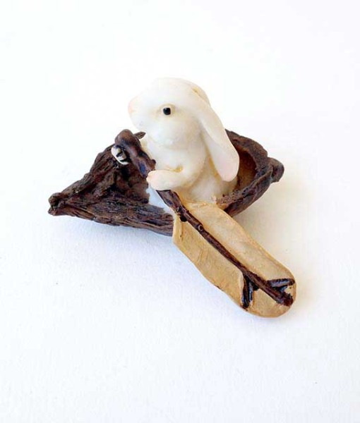 Miniature bunny figurine