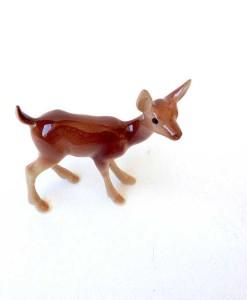 Miniature deer figurine