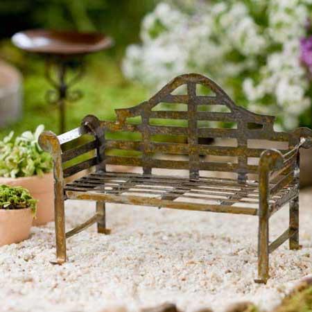 miniaturefairygardenlutyensbench